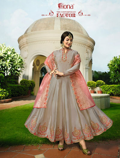 Ayesha Kali Organza Duppatta Satin Georgette With Work Suit 22173