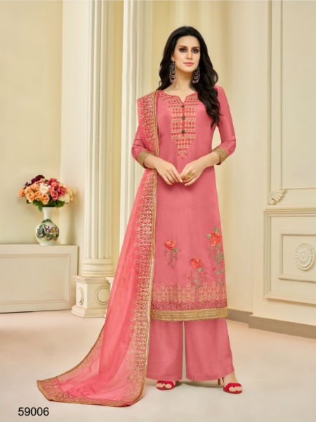 Buy Mf Zohra Pure Upada Silk With Full Embroidery Work Plazzo 59006