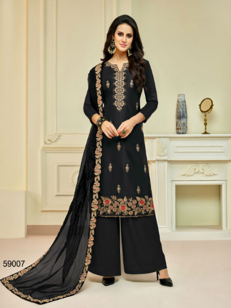 Buy Mf Zohra Pure Upada Silk With Full Embroidery Plazzo 59007