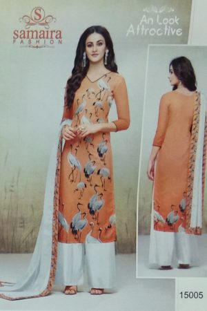 Buy Samaira Fashion Hillary Maslin Digital Prints Plazzo Suits 15005