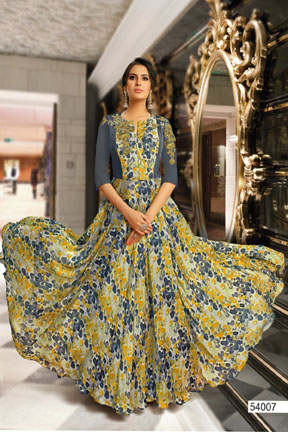 Buy Suhati Fab Myra Vol 5 Gown Collection 54007