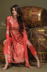 Buy Tacfab Ulhaas Chanderi Digital Print With Work Suits 2440