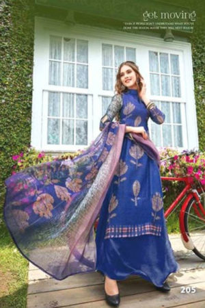 Ellyn Pure Chanderi Digital Print Gowns Suits 205