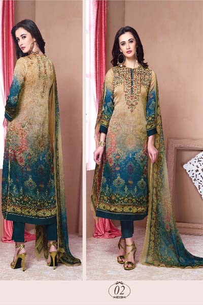 Esta Designs Annika Digital printed Embroidery suits 02