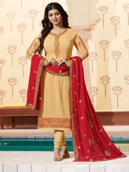 Glossy Simar Veenaz Pure Georgette and Heavy Embroidery Suits 18029