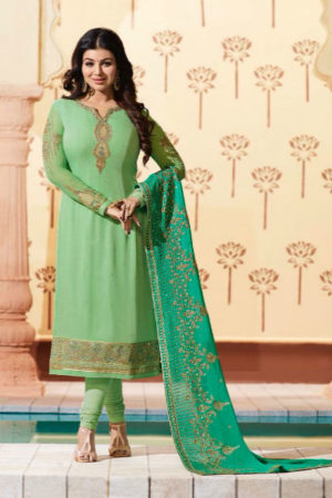 Glossy Simar Veenaz Pure Georgette Heavy and Embroidery Suit 18032