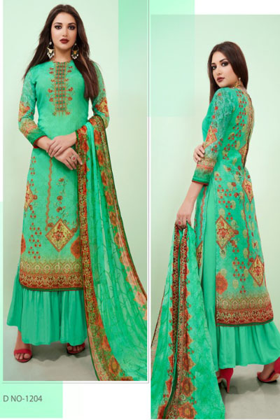 Hasna Husna Ara Georgette Digital Print With Ari Work Suit 1204
