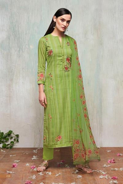 Itrana Nafees Cotton Satin Article Digital Print With Embroidery Suit 210