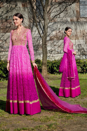 Jinaam Roma Carmel Printed Georgette With Heavy Neck Embrodery Suit 6695