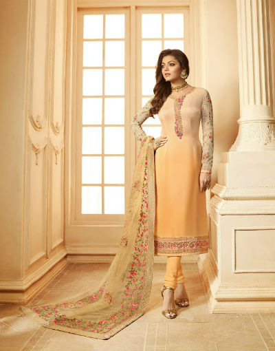 Lt Fabrics Nitya 123 Georgette With Heavy Embroidery Suit 2301
