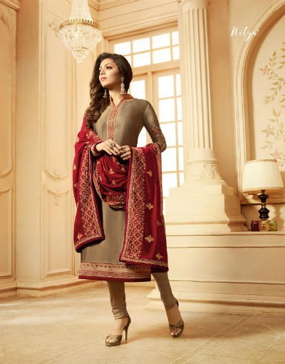 Lt Fabrics Nitya 123 Georgette With Heavy Embroidery Suit 2305
