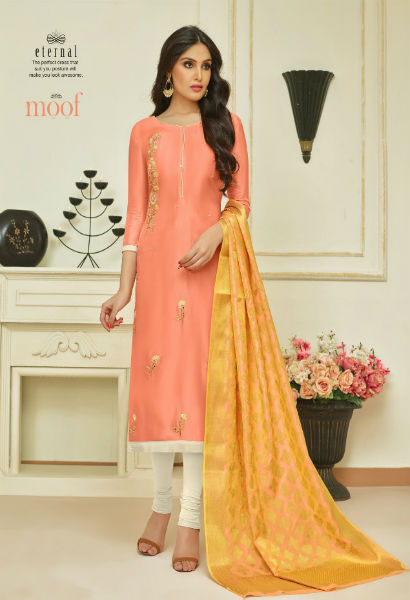 Moof Fashion Moof Vol 10 Maslin Cotton With Hand Work Multi Work Suit 807
