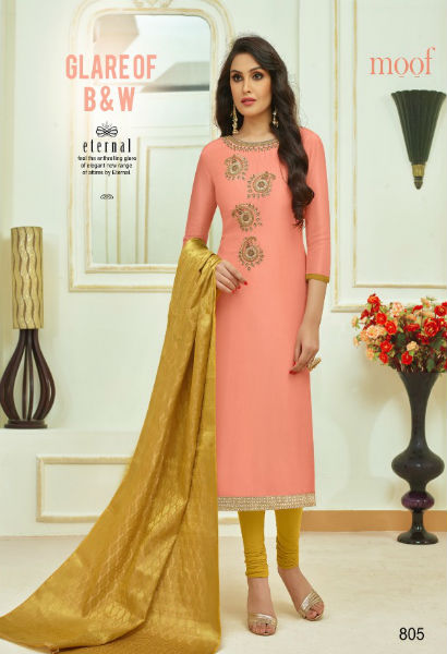 Moof Fashion Moof Vol 10 Maslin Cotton With Hand Work Multi Work Suit 805