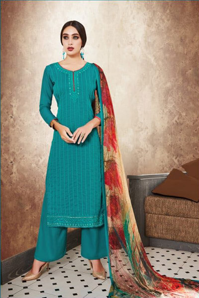 Parchhaai Noor Jam Satin With Heavy Embroidery Suit 1054