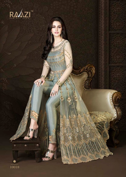 Rama Raazi Net With Heavy Work & Embroidery Designer Suit D.No 10018