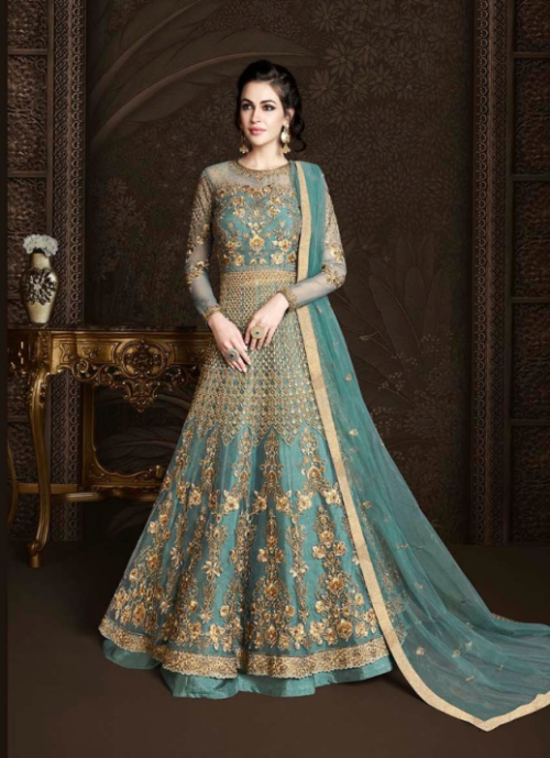 Rama Raazi Net With Heavy Work & Embroidery Designer Suits D.No 10019
