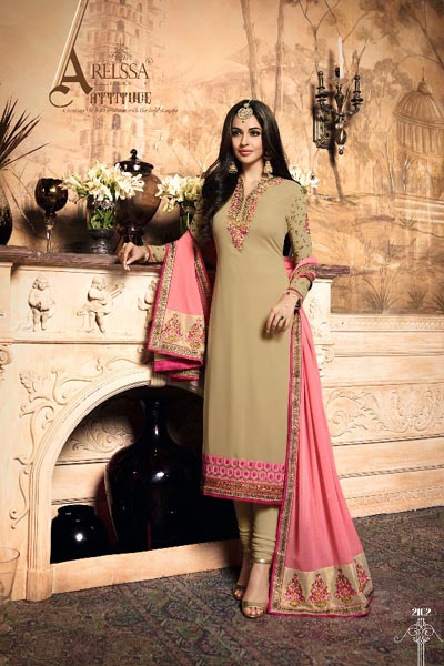 Rellisa Melissa Georgette With Heavy Embroidery and Hand Work Suit 2102