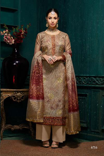 Roma Harmony digital Print with Jari Embroidery suit 6716