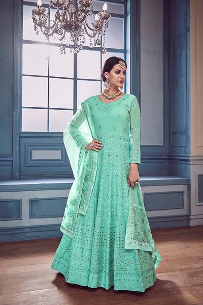 Sajawat Creation Begam Georgette With Heavy Fancy Handwork Suits 38001