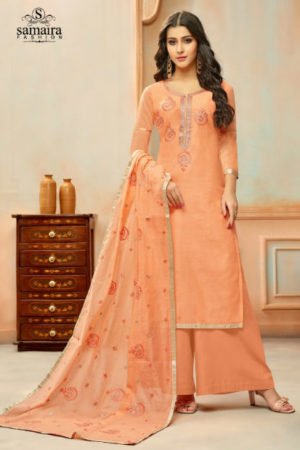 Samaira Fashion Orianna Designer Modal Silk Embroidered Dress Materials 16005