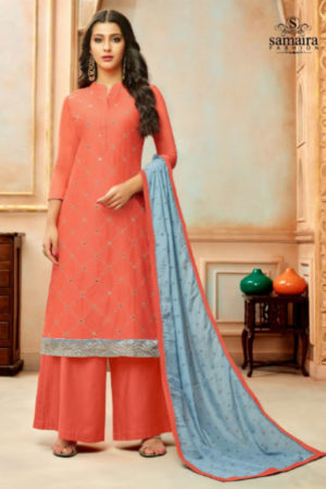 Samaira Fashion Orianna Designer Modal Silk Embroidered Dress Material 16010