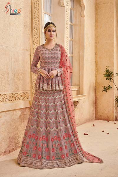 Shenai Bridal collection Vol 9 Georgette with work suit 6045