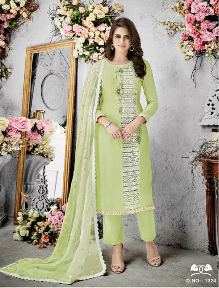 Shree Fabs Guzarish 4 Muslin With Khatli Work Suit 1024