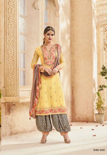 Shree Fabs Shagun Beautiful Collection of Heavy Patiala Salwar Suit 3505