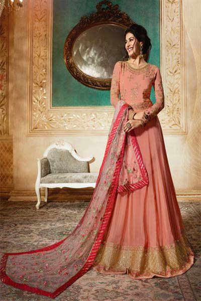Simar Amyra pure georgette and santoon embroiderd Anarkali suit 9086