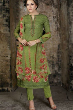 Sudriti Nirvisha Article Butti Digital Print With Embroidery Suit 750