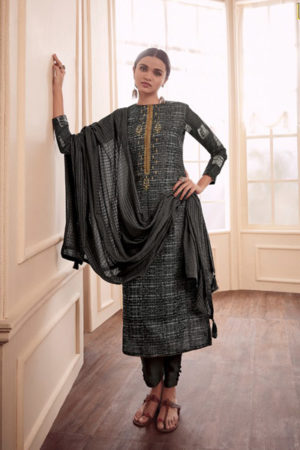 Varsha Fashions Earthy Notes Woven Double Cloth With Embroidery Suits 102