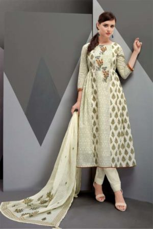 Volono trendz Zara vol-2 Print and Embroidery Suit 2003