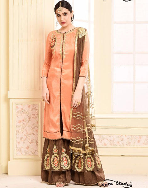Your Choice Adaa Jam Silk Cotton Semi Stitched Suit 2955