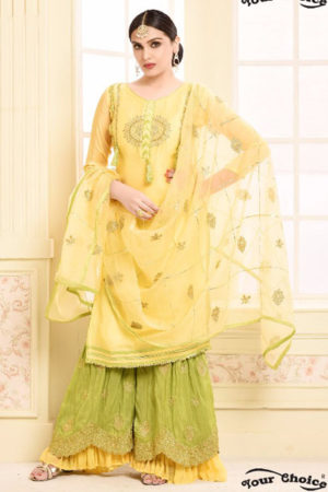Your Choice Adaa Jam Silk Cotton Semi Stitched Suit 2956