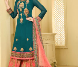 Your Choice Sarara 6 Heavy Georgette Work & Embroidery Semi Stitched Sarara 3058