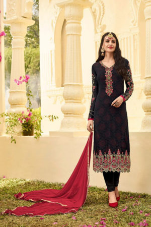 Zubeda The Star Collection Georgette With Heavy Work Suit 15004