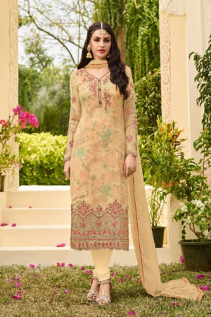 Zubeda The Star Collection Georgette With Heavy Work Suit 15005