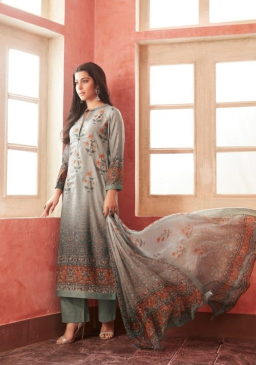 Buy Esta Allura Digital Printed Pashmina with Handwork Suit 07