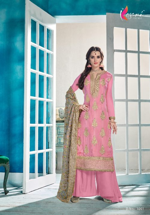 Buy Kesari Trendz Uppada silk with Embroidery Suit 1001