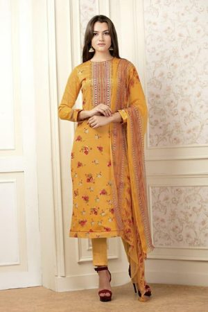 Buy Sudriti Nausheen Pashmina With Mirror And Embroidery work suits 765