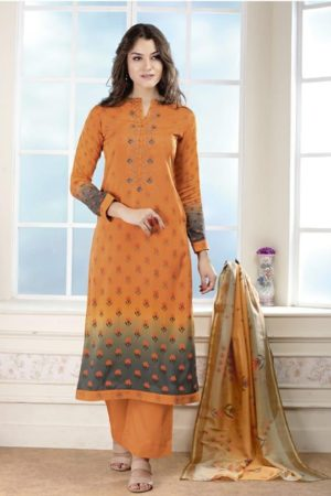 Buy Sudriti Nausheen Pashmina With Mirror And Embroidery work suits 700