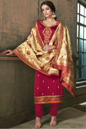 Hasna Husna Banaras 2 Georgette Salwar Suits With Inner & Embroidery Suit 2004