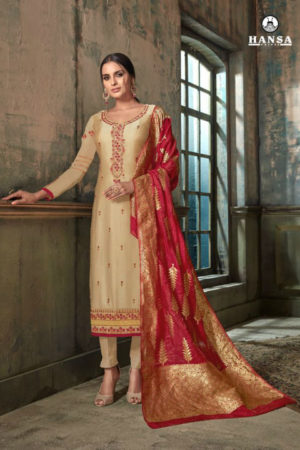 Hasna Husna Banaras 2 Georgette Salwar Suits With Inner & Embroidery Suit 2008