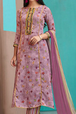 Jay Vijay Ruhaniyat Pashmina Digital Print With Embroidery Suit 4251