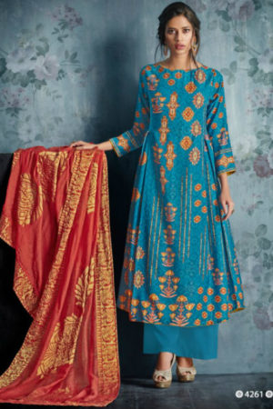 Jayvijay Bahni Pashmina Digital Print With Hand Work Suit 4261