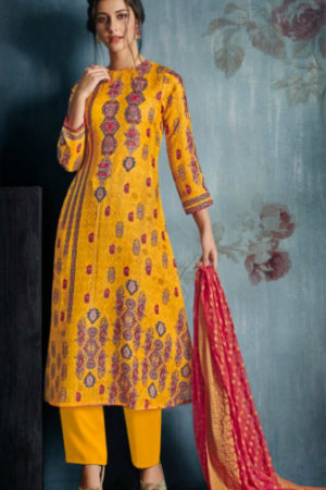 Jayvijay Bahni Pashmina Digital Print With Hand Work Suit 4265