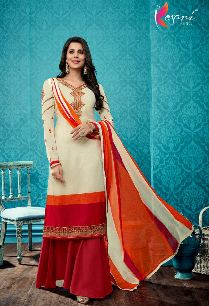 Kesari Trendz French Crepe Vol 2 French Royal Crepe With Embroidery Suit 2002