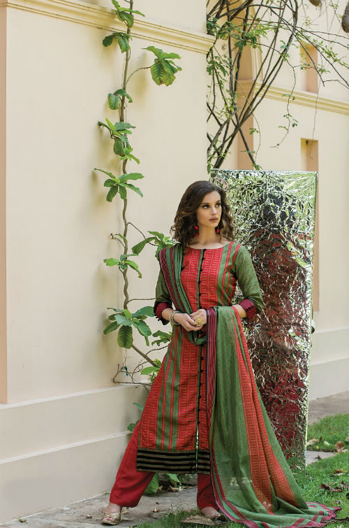 Sri Musafir Gazzal Chandrakanta Desi Silk Semi Stitched Suits 803