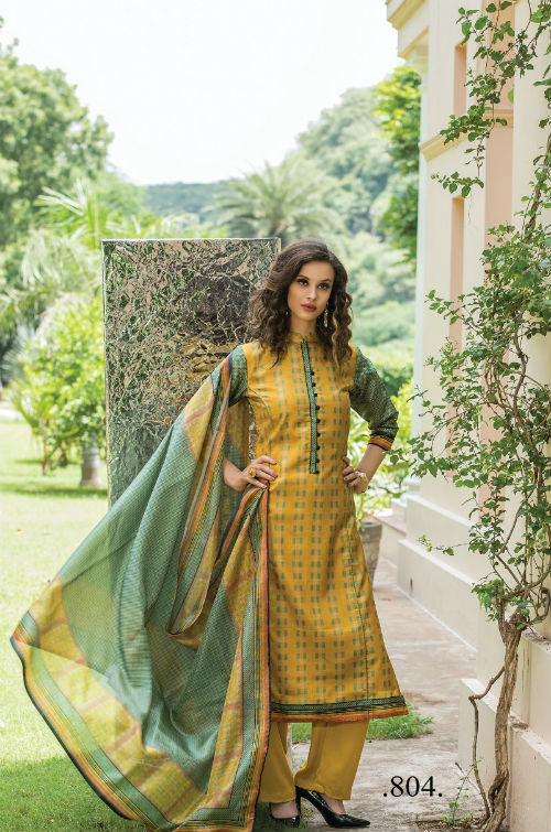Sri Musafir Gazzal Chandrakanta Desi Silk Semi Stitched Suits 804