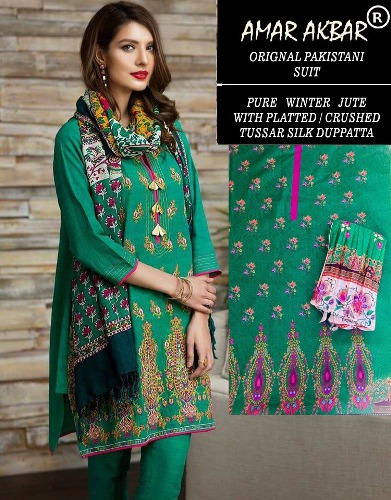 Amar Akbar Pakistani Pure Jute winter Suits 4